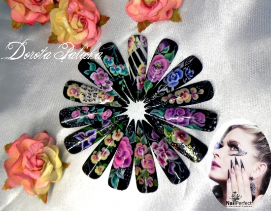 One stroke is most amaizing nail art technique atend one stroke nail art  course to learn this fab designs. - Start Our Carier As An Nail Technician. Best Training On